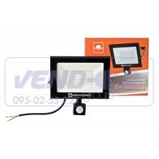 Прожектор 50w c датчиком движения 4700Lm 6400K IP65 EVRO LIGHT EV-50-504D