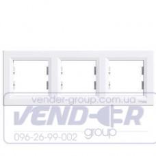Рамка 3 постовая горизонтальная белая SCHNEIDER ASFORA