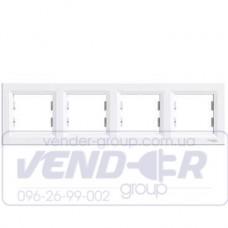 Рамка 4 постовая горизонтальная белая SCHNEIDER ASFORA