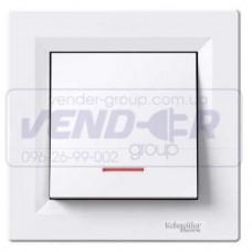 Выключатель 1-кл. с подсветкой белый SCHNEIDER ASFORA