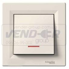 Выключатель 1-кл. с подсветкой крем SCHNEIDER ASFORA