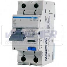 Дифференциальный автоматический выключатель 16А, 10мА, HAGER, х-ка B