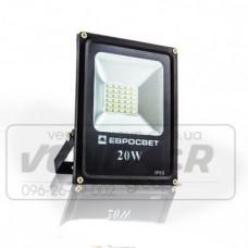 Прожектор EVRO LIGHT 20W 1100Lm 6400K SMD